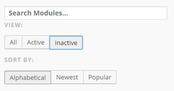 Inactive Jetpack Features