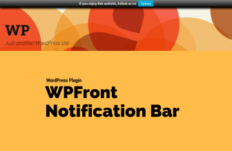 WPFront Notification Bar Plugin