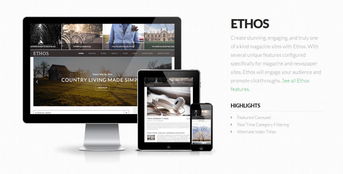 X theme - Ethos Stack